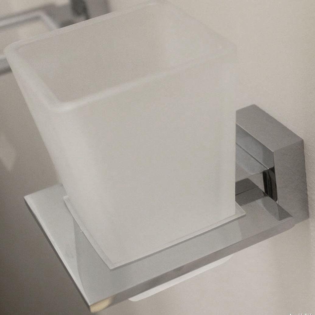 Arnolds Design Square Zahnputzglas mit Halterung