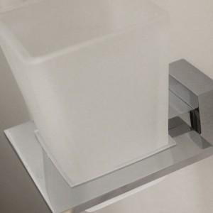 Arnolds Design Square Zahnputzglas mit Halterung_zoom